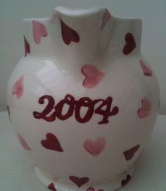 Emma Bridgewater Pink Hearts 1.5 Pint Jug for Collectors Club 2004