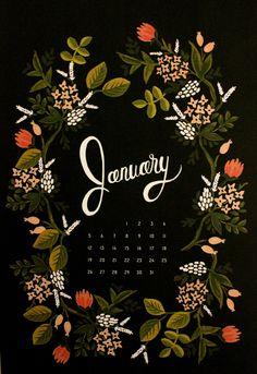 january 2014 rifle paper co bookslooks 26 January Wallpaper, Calendar Wallpaper, Iphone Wallpaper, Illustrations, Illustration Art, January Calendar, Calendar 2014, January 2016, Guache