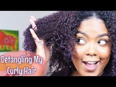 How To | Detangling Natural Hair - YouTube