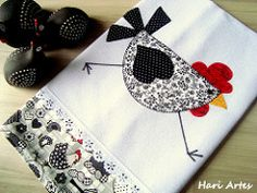 Pano de prato Galinha Moderna (Hari Artes) Tags: galinha patchwork cozinha…