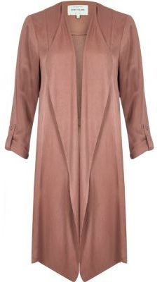 River Island Womens Pink long sleeve crinkle duster