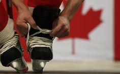 Обои Канада, шнурки, хоккей, коньки, игра