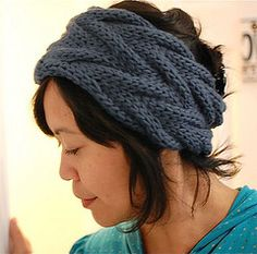 Chunky cabled headband I am dying to knit sometime.