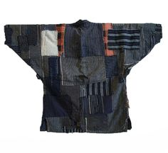 A Heavily Layered Boro Noragi or Work Coat: Flannel Patches