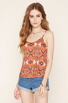 ¡Cómpralo ya!. Lattice-Cutout Cropped Cami. details   In a semi-sheer knit, this cropped cami features an allover abstract geo print, adjustable straps, and a lattice-cutout back.  Content + Care   - 100% rayon- Hand wash cold- Made in Vietnam  Size + Fit  - Model is 5'8%22 and wearing a Small- Full length: 17%22- Chest: 32%22- Waist: 46%22 , topcorto, croptops, croptop, croptops, croptop, topcrop, topscrops, cropped, topbailarina, corto, camisolacorta, crop, croppedt-shirt, kurzestop…