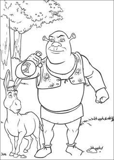 Dibujos para Colorear Shrek 54