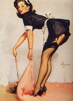 Clean Sweep 1963. Gil Elvgren. Totally sexist, yes. Totally sexy, yes!