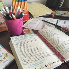 Day 4- your routine to keep bullet journal updated. (My desk when I'm in full planning... | Use Instagram online! Websta is the Best Instagram Web Viewer!