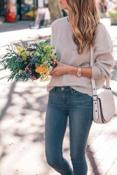 balayage-hair-isabel-marant-mohair-sweater-coach-bag-wildflower-fall-bouquet-prosecco-and-plaid-3