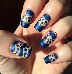 Revealed #blue #dotted #mani #nailart - bellashoot.com & bellashoot iPhone & iPad app