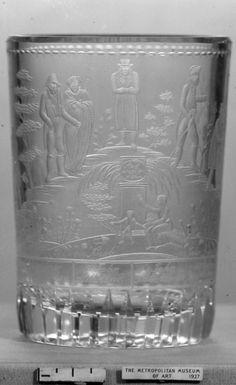 Beaker  Date:     ca. 1820  Culture:     Bohemian  Medium:     Glass