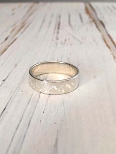 4mm and 6mm 925 Sterling Silver Ring/Mountain Ring by NaosJewel