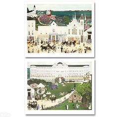 """""""Somewhere in Time"""" Numbered & Signed Lithograph Diptych by Deneille Spohn Moes"""