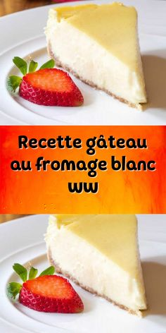 a delicious dessert for the whole family. an easy Weight Watchers recipe and for the whole family test it. Easy Homemade Desserts, Homemade Cake Recipes, Healthy Dessert Recipes, Ww Recipes, Dessert Ww, Köstliche Desserts, Cottage Cheese Cake Recipe, Fresh Fruit Cake, Recipes With Few Ingredients