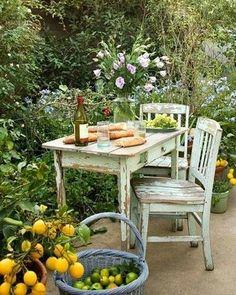 "Newest Pics Secret Garden patio Tips In Francis Hodgson Burnett wrote a book entitled ""The Secret Garden&rdquo ; Outdoor Rooms, Outdoor Dining, Outdoor Gardens, Outdoor Decor, Rustic Outdoor, Patio Dining, Outdoor Seating, Rustic Patio, Dining Table"