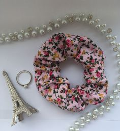 Handmade scrunchies for sale on my Etsy store Scrunchies, Etsy Store, Etsy Seller, Floral, Pink, Handmade, Hand Made, Florals, Craft
