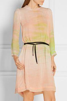 NET A PORTER $212 Raquel Allegra tie dyed silk georgette dress - size 1
