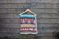 Baby Crochet Knitted Blanket Full of Colors Cotton Blanket Fair Isle Blanket Very Soft Easy-Care Baby Blanket Baby Afgan Soft Baby Blankets, Cotton Blankets, Knitted Blankets, Knitted Baby, Baby Knitting, Crochet Baby, Baby Blessing, Fair Isle Pattern, Blessings