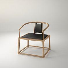 轻茶椅 规格:W650×D580×H720 材质:水曲柳 颜色:仿胡桃木色亚光漆 设计师:康佳为