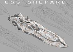 Spaceship Art, Spaceship Design, Concept Ships, Concept Art, Steampunk Ship, Starship Concept, Space Engineers, Lego Ship, Future Weapons