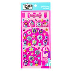 B2s Glitter Stickers from Smiggle - flower