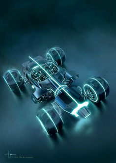 COSMIC-MOTORS: TRON LEGACY: Full Resolution Render LIGHT RUNNER