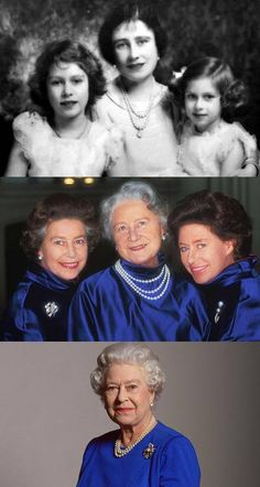 Queen Elizabeth The Queen Mother with her daughters, Elizabeth and Margaret. HM Queen Elizabeth II is now the one remaining figure of the family King George VI called The Firm. Lady Diana, English Royal Family, British Royal Families, George Vi, Princesa Diana, Prinz Philip, Isabel Ii, Her Majesty The Queen, Queen Of England