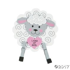 Lamb+of+God+3D+Stand-Up+Craft+Kit+-+OrientalTrading.com