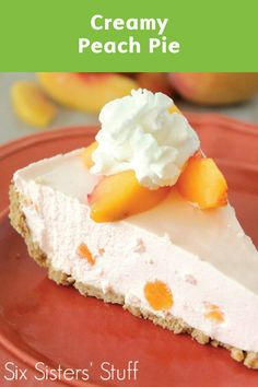 With summer fruit season coming to a close, make the most of this juicy ingredient by making this recipe for Creamy Peach Pie. Plus, this dessert treat is no-bake and easy!