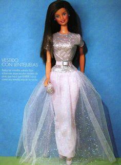 labores de esther. todo para barbie: Barbie y su vestido de lentejuelas