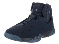 another chance e5819 6776a Nike Jordan Men s Jordan True Flight Obsidian Ocean Fog Basketball Shoe 8  Men Us