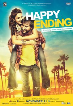 Bollywood poster. Happy ending movie.