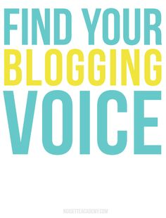 Tips for how to find your #blogging voice from Her New Leaf.