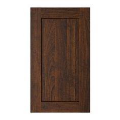"""ROCKHAMMAR 2-p door/corner base cabinet set, wood effect brown Width: 11 3/4 """" Height: 30 1/8 """" Thickness: 3/4 """" Width: 30 cm Height: 76.5 c..."""