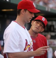 Yadi's just longing for Waino to glance at him with wanting eyes.