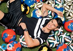 """""""James for GQ magazine. Fútbol's Freshest Face: Colombian midfielder James Rodríguez entered last summer's World Cup as little-known as the proper pronunciation of his first name: """"ha-mes. James Rodriguez, Messi Neymar Suarez, Michael Jordan, Soccer Gifs, Real Madrid Soccer, Champion, Soccer Stars, Gq Magazine, Beauty Shots"""
