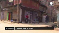 Protesta en Cachemira contra las elecciones estatales