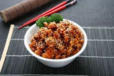 """Sesame Chicken - I""""m eating this right now, and it's fantastic!"""
