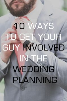 From wedding plans to honeymoon plans, check out these fun ways to get your fiance involved that he'll actually enjoy! | Kennedy Blue