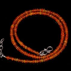 "27CRTS 3to3.5MM 17.5"" ETHIOPIAN OPAL RONDELLE BEAUTIFUL BEADS NECKLACE OBI1752 #OPALBEADSINDIA"