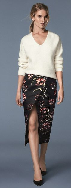 Long limbs: The model who has been working with M&S for years, shows off her enviably tone...