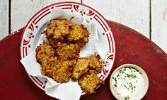 Carrot and butternut fritters