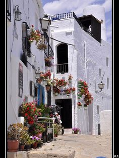 MOJACAR PUEBLO, Almeria, Spain.  When I wasn't too cool to go on hoiday with my mum.