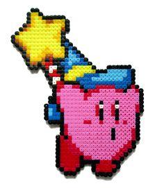 Magical Kirby perler bead sprite by AenysBeadArt on Etsy