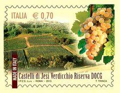 "Italian postal service issues ""Verdicchio dei Castelli di Jesi"" stamp"