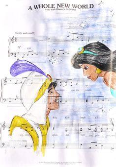 aladdin: music manuscript by *cattybonbon