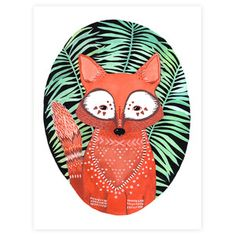 This one might go up in my son's room. Love it! Fox In Ferns, $28, now featured on Fab.
