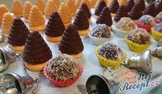 Vosí hnízda a kuličky s oříškem (nepečené) | NejRecept.cz German Cookies, Four, Confectionery, Christmas Baking, Mini Cupcakes, Nutella, Cheesecake, Muffin, Breakfast