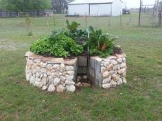 A #Keyhole Garden is a great way to garden in a small space with ...