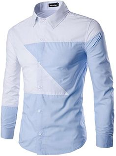 jeansian Men's Irregular Stitching Long Sleeves Dress Shirts 3 Colors 84C6 Blue&White M jeansian http://www.amazon.com/dp/B01CFICGOM/ref=cm_sw_r_pi_dp_9YN1wb19CJXB7